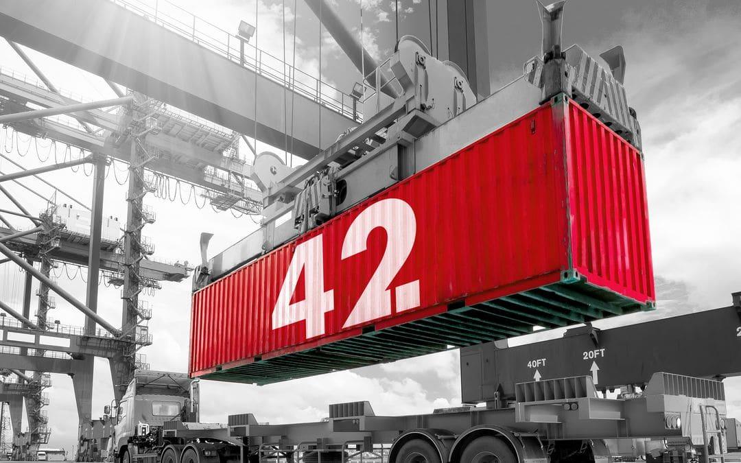 Container 42 porto di Rotterdam
