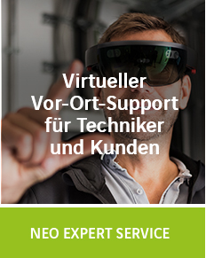 Virtueller Vor-Ort-Support für Techniker und Kunden mit NEO Expert Service