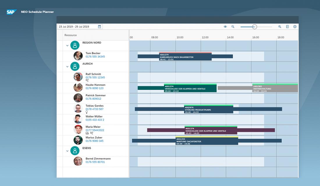 Einsatzplanung für Techniker im Außendienst mit NEO Schedule - Planner