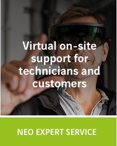 NEO Expert Service: Virtual on-site support for technicians and customers