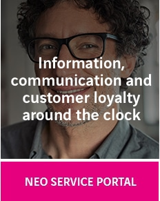 NEO Service Portal: Information, communication and customer loyalty around the clock